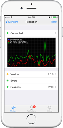 Use iPhone to monitor synchronizations