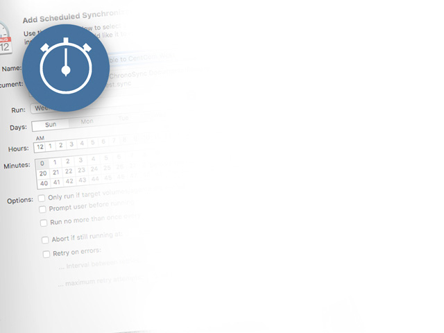 Schedule syncs for your Mac