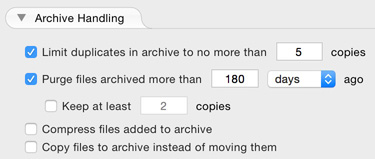 Enable Archiving