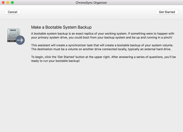 Bootable Backup explanation
