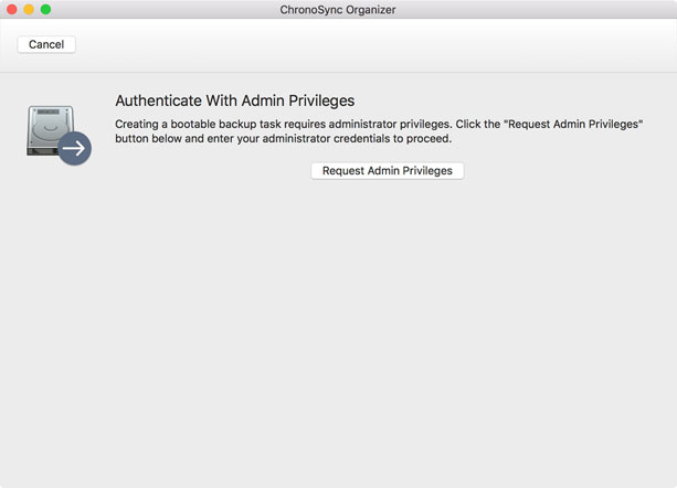 authenticate with admin privileges