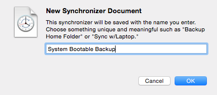 Create a new synchronizer document