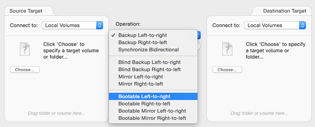 Bootable Left-to-right operation