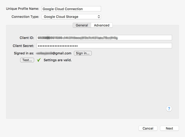 Set up Google Cloud Connection