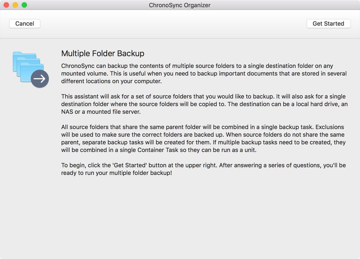 Multiple Folder Backup Assistant