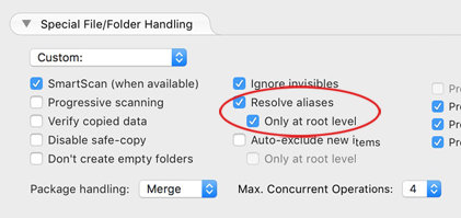 Resolve aliases