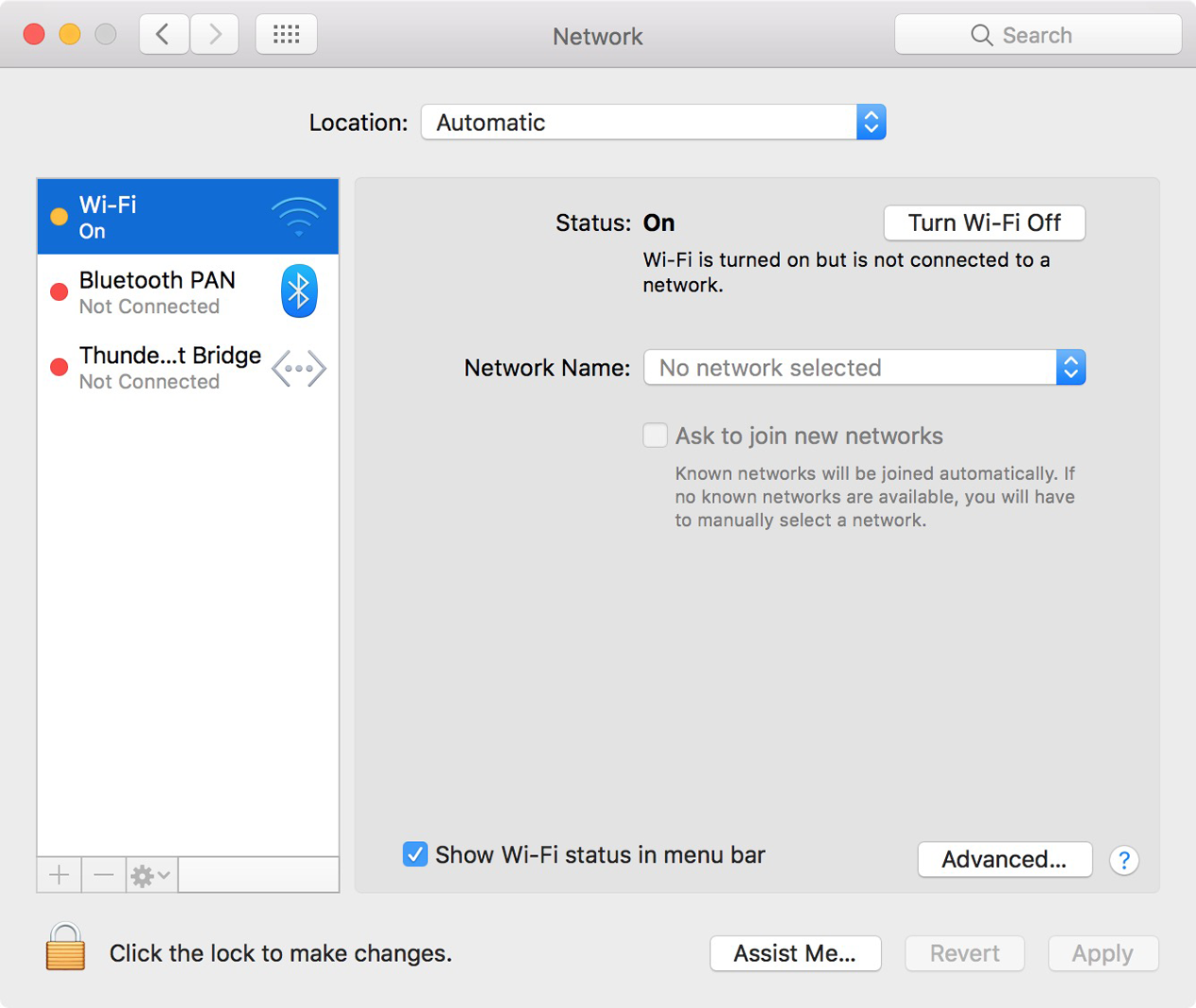Network Connections Between Macs