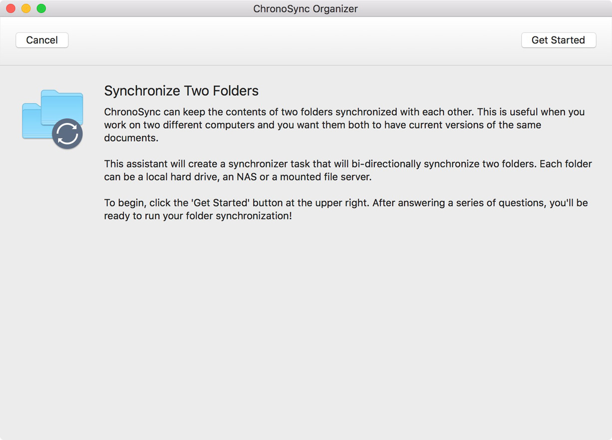 Synchronize Two Folders Assistant