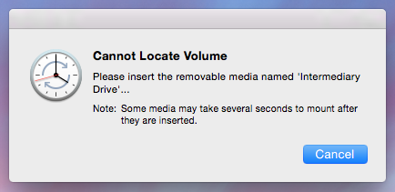 Cannot Locate Volume