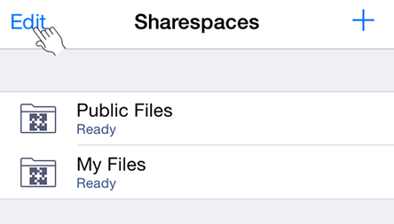 Edit Public Files Sharespace