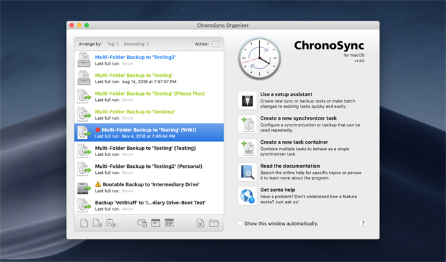 What's New in ChronoSync 4 9