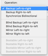 Backup Left-to-right