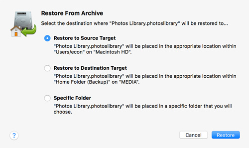 Restore from Archive