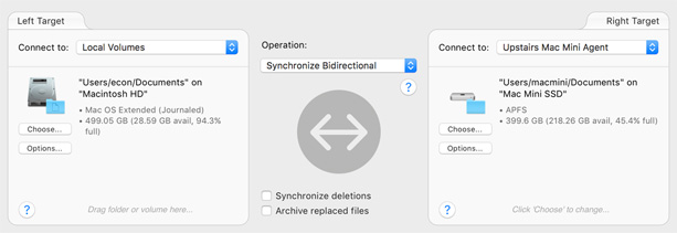 Select file or folder to sync