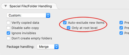 Auto-exclude files