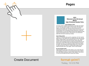 Add document in Pages